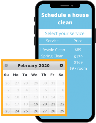 Schedule a house clean maid easy